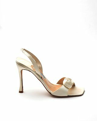 Joseph Azagury Ivory Satin Bridal Sandals UK 6 ( EU Size 39 ) BNIB Shoes Pretty