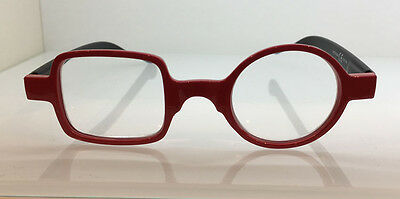 Occhiale Occhiali Da Lettura Tondo Quadro Rosso Red Reading Glasses