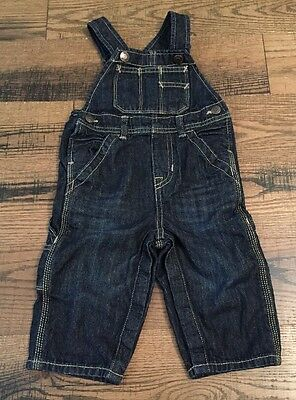 Toddler Boys Gap Denim Blue Jean Pants Overalls 12-18 Months