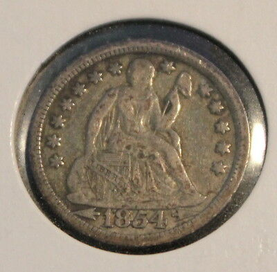 1854 Seated Liberty Dime / with Arrows