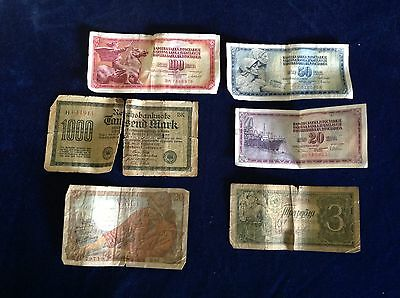 Collection Of Vintage Banknotes 99P Start No Reserve
