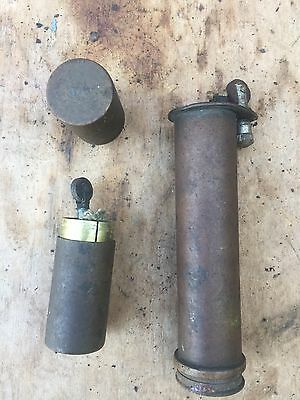 Job Lot Two Vintage Brass Table Lighters