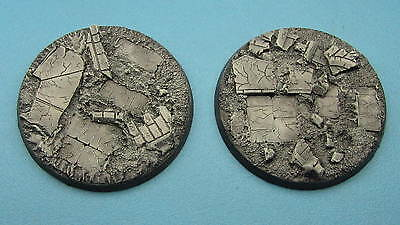 Unpainted 60mm resin bases rubble Dreadnought Warhammer 40k Dark Imperium
