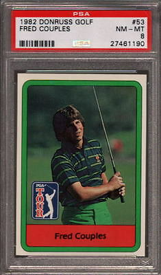 1982 Donruss Golf #53 Fred Couples Rc Psa 8 X2479930-190