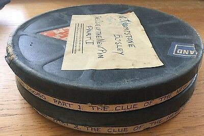 "PATHESCOPE 9.5mm.SILENT MOVIE ""THE CLUE OF THE NEW PIN""(1929) RARE.JOHN GIELGUD"