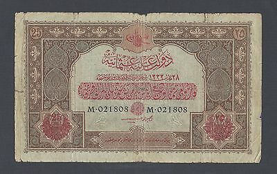 Turkey-Ottoman 25 Lira L1333 P105 Good