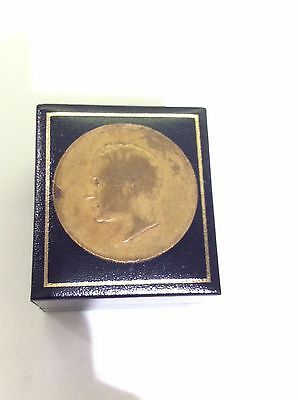 PAHLAVI BRONZE MEDAL COIN not gold 1965-1344 Jubilee anniversary commemorative