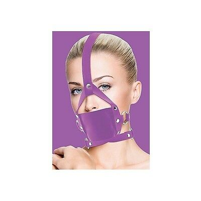 Ouch Leather Mordaza Lila Con Ajustes