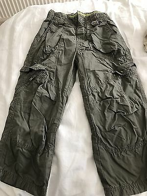 Boys Cargo Trousers, Next, Size: 4 Years