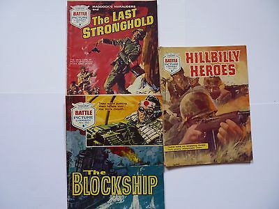 3 x Battle Picture Library Nos. 282 - 303 - 359 ( 1967 )