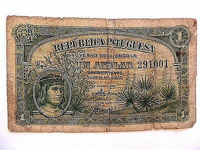 1942 Portugal One (1) Angolar Note