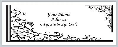 30 Victorian Personalized Return Address Labels Buy 3 get 1 free (bo 92)