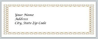 30 Victorian Personalized Return Address Labels Buy 3 get 1 free (bo 100)