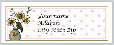 30 Personalized Return Address Labels Primitive Country Buy 3 get 1 free (c 29)