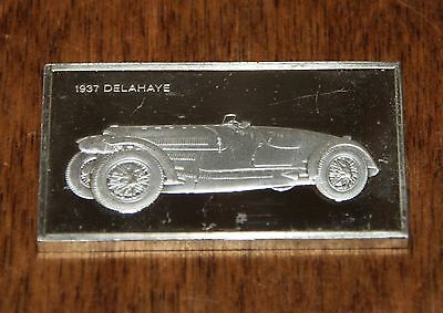 The Franklin Mint Classic Cars | 1937 Delahaye 135 | Sterling Silver 1000 Grains