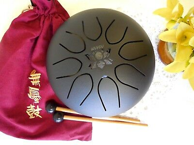 "WuYou  8"" 20cm Lotus Drum / Chakra drum, Fine-tuned by hand Perfect Scale Sound"