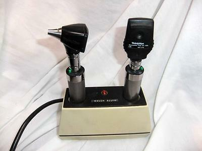 Welch Allyn 7110 charger/ 20520A otoscope and 11710 opthalmoscope