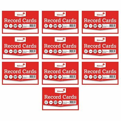 Silvine Record Revision Index Flash Cards White/Colour Plain/Lined  Home/Office