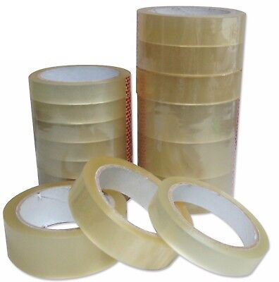 "Clear Tape Strong Rolls Packaging Parcel Packing Sellotape1"" 24mm x50m Cellotape"