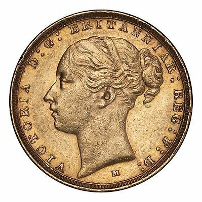 Great Britain Victoria Gold Coin 1885-M Gold Sovereign Young Head