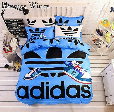 Adidas Bedding sets for Boys and Girls Blue set Sports Bedding Set High Quality