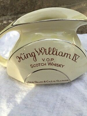 King William 4 scotch whisky water jug made in England