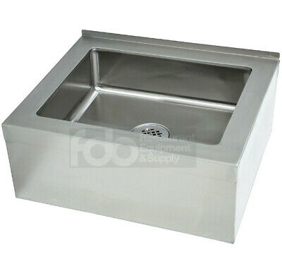 "20"" x 16"" 12"" Stainless Steel Floor Mop Bucket 25"" Sink Commercial Utility Drain"