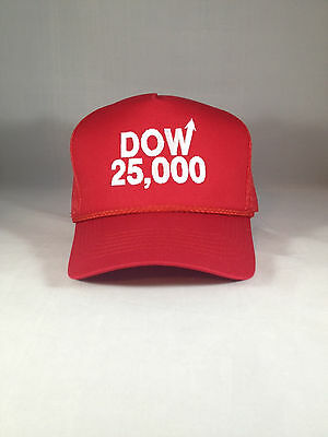 Dow 25000 Red Hat Dow 25,000 Cap DJIA Stock Market 20000 30000 20,000 30,000
