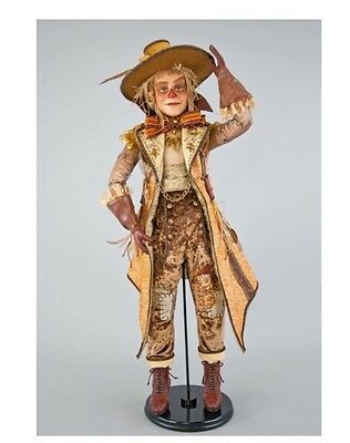 """Katherine's Collection 32"""" Gilded Seasons Scarecrow Doll NEW 28-728455"""