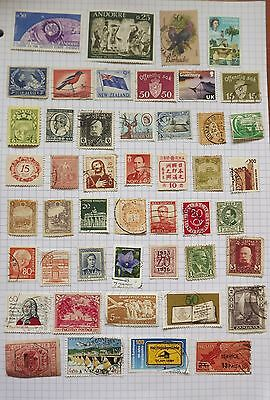 Stamps of the World. Collection of 47 stamps.      F