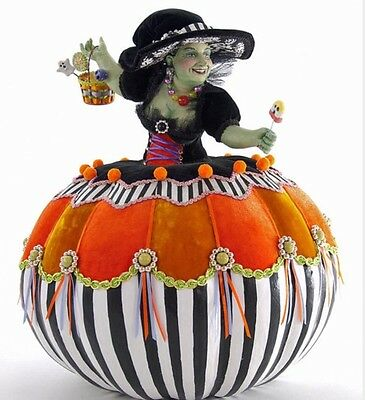 """Katherine's Collection 17"""" Tricky Treats Pumpkin Witch NEW 28-628202"""