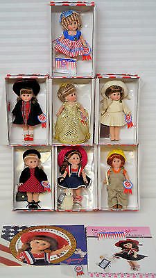 """Complete Set Ginny for President 8"""" Dolls Vogue 2000 MIB +Paper & Pin-Club Doll"""