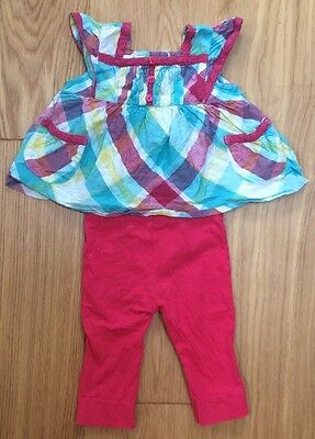 Baby Girl Top And Trousers, 3-6 Months