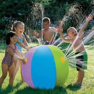 Inflatable Water Ball Sprayer Sprinkler Toy Game Garden Kids Play Summer Pool