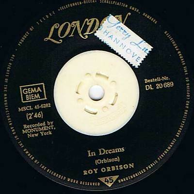 "60s 7"" 37 - ROY ORBISON - IN DREAMS - London D 1963 - VG+"