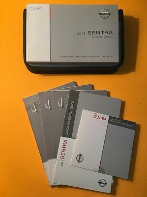 2011 Nissan Sentra Owners Manual [03679] 5 Book Set with DVD and Case