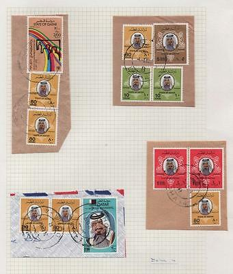 QATAR: Used Examples - Ex-Old Time Collection - Album Page (8803)