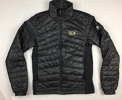 MOUNTAIN HARDWEAR® Black Down Jacket Men's Size Medium