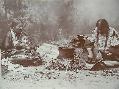AMERICAN INDIAN  SIOUX  WOMEN,1899,  New historical art print, Old West series