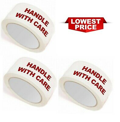 Handle With Care Fragile Printed 48Mm X 66M Carton Sealing Parcel Packaging Tape
