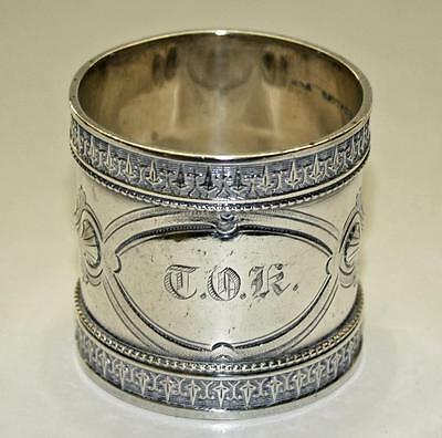 Antique Sterling Silver Napkin Ring by Wood & Hughes (American)