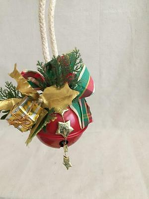"5 1/2"" Door Knob Red Jingle Bell"