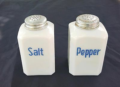 Vintage Blue Magic Salt and Pepper Shakers Luce Mfg Co