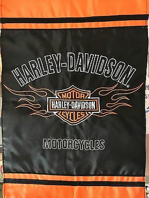 Brand New Harley Davidson Appliqué/embroidered 2 Sided Garden Flag