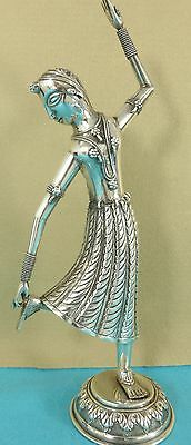 Beautiful SE Asian Sterling Silver Statue Dancer Fine Chased Decoration Ca 1970