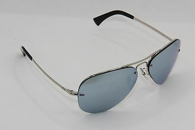 RAY-BAN RB 3449 033 30 Chrome Frame Mirrored Sunglasses 59-14 ... 4c05e81759
