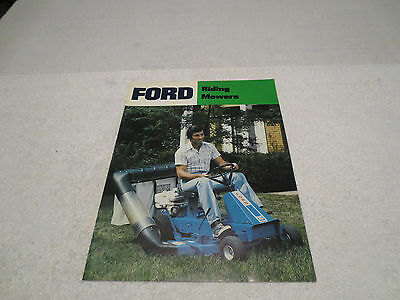 Vintage Ford Riding Mowers Sales Literature Brochure