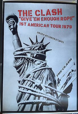 The Clash Give'em Enough Rope U. S. Tour 1979 poster print 24 X 34