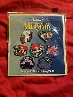 Htf Nwt Disney 2012 The Little Mermaid Pin Set Booster Collection 7 Pins *sealed