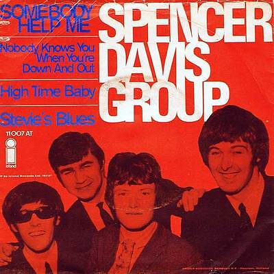 "60s 7"" 93 - THE SPENCER DAVIS GROUP - SOMEBODY HELP ME (EP) NL 1972 - EX-"